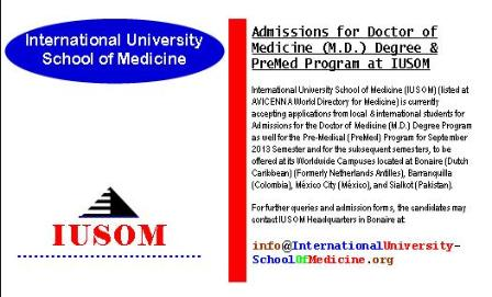 Admissions for Doctor of Medicine (M.D.) Degree & PreMed Program at IUSOM